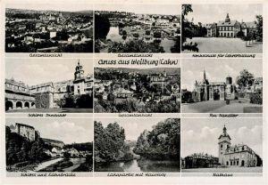 AK / Ansichtskarte Weilburg Fliegeraufnahme Hochschule fuer Lehrerbildung Sandtor Schloss Innenhof Lahnbruecke Hanseley Kat. Weilburg Lahn