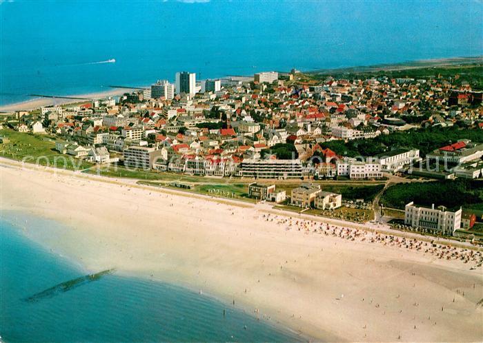 Norderney Nordseebad Westbad Strand Nordseeinsel Fliegeraufnahme Kat. Norderney