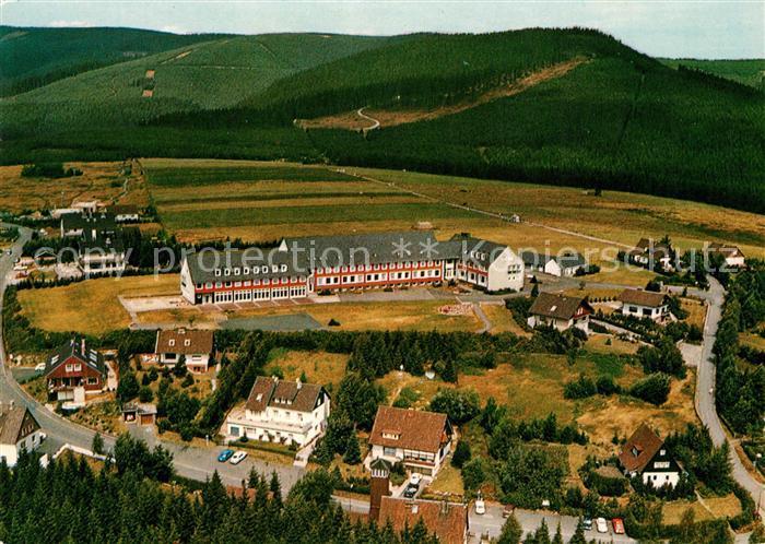 Schulenberg Oberharz Bundesbahn Kinderheim Ferienwohnungen Fliegeraufnahme Kat. Schulenberg im Oberharz