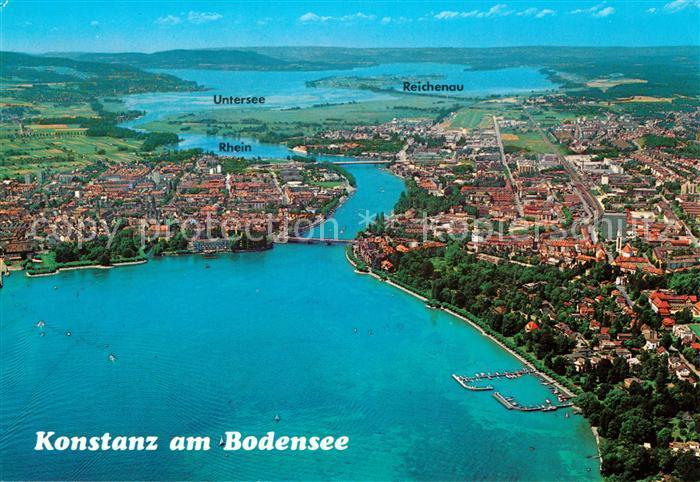 Konstanz Bodensee Rhein Untersee Insel Reichenau Fliegeraufnahme Kat. Konstanz