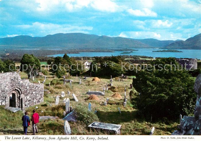 AK / Ansichtskarte Killarney Kerry The Lower Lake from Aghadoe Hill Kat. Killarney
