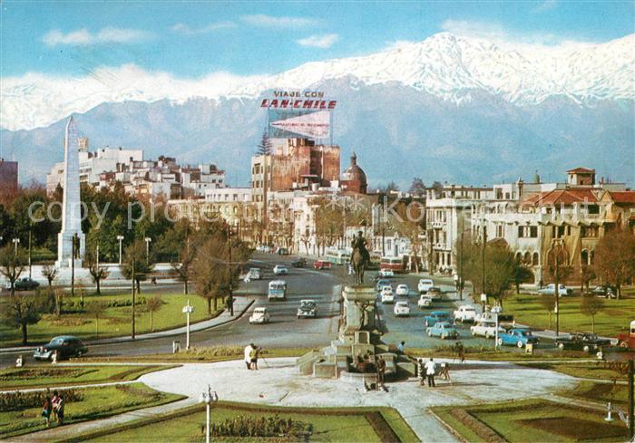 AK / Ansichtskarte Santiago de Chile Plaza Benvenuto Cordillera de Los Andes Kat. Chile