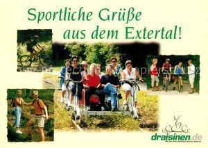 AK / Ansichtskarte Extertal Mit der Fahrrad Draisine durchs Extertal Kat. Extertal