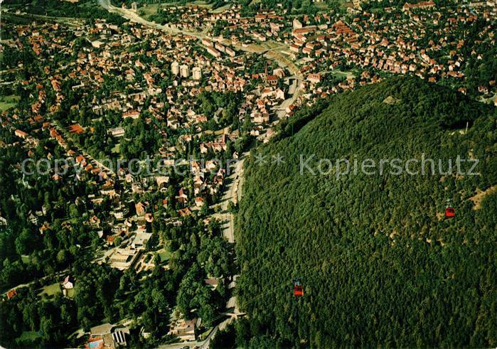 AK / Ansichtskarte Harzburg Bad Fliegeraufnahme Kurpark Seilbahn  Kat. Bad Harzburg