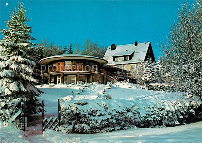 AK / Ansichtskarte Hahnenklee Bockswiese Harz Restaurant Bastei Winterpanorama Kat. Goslar