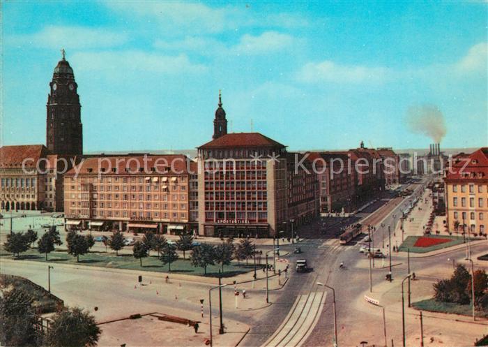 AK / Ansichtskarte Dresden Pirnaischer Platz Thaelmann Strasse Kat. Dresden Elbe