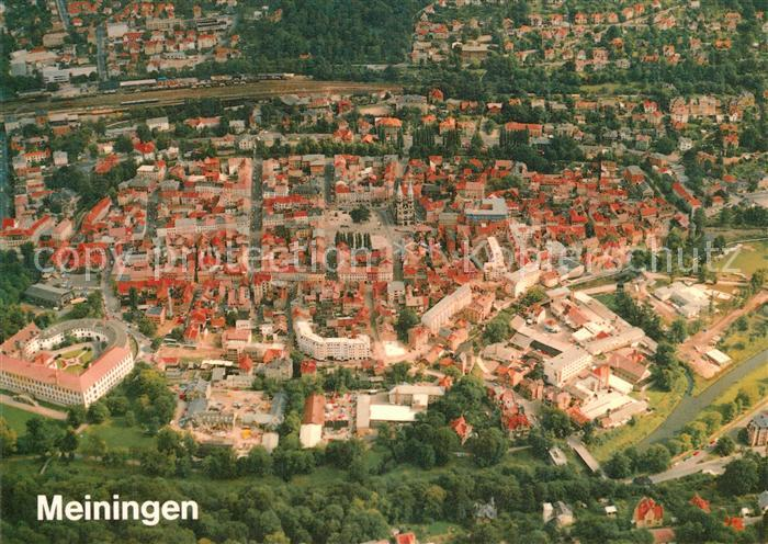 AK / Ansichtskarte Meiningen Thueringen Fliegeraufnahme Kirche Kat. Meiningen