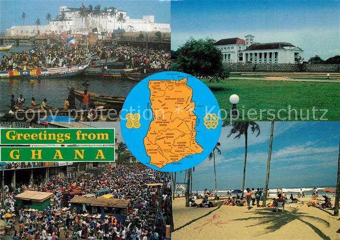 AK / Ansichtskarte Ghana Hafen STrand  Kat. Ghana