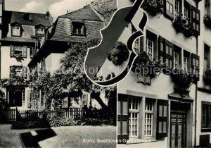 AK / Ansichtskarte Beethoven Bonn Geburtshaus  Kat. Persoenlichkeiten