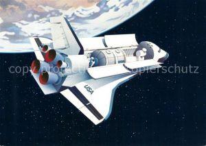 AK / Ansichtskarte Raumfahrt Space Shuttle Spacelab Luraba 1981 Luzern  Kat. Flug