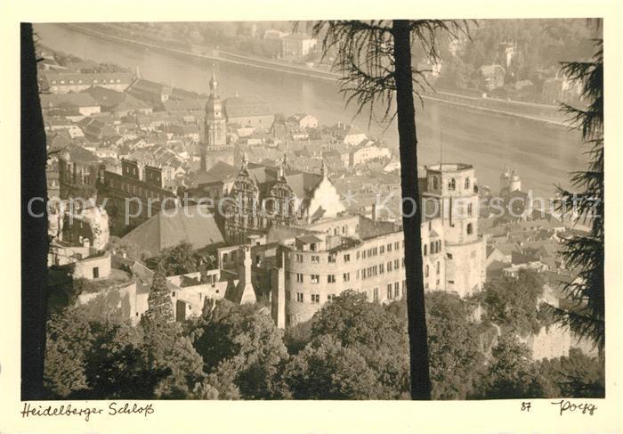 Fotografie Heidelberg ak ansichtskarte foto popp nr 87 heidelberg schloss