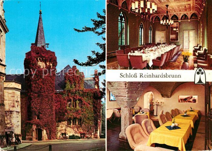 AK / Ansichtskarte Reinhardsbrunn Schloss Ahnensaal Schlosskellerbar Kat. Friedrichroda
