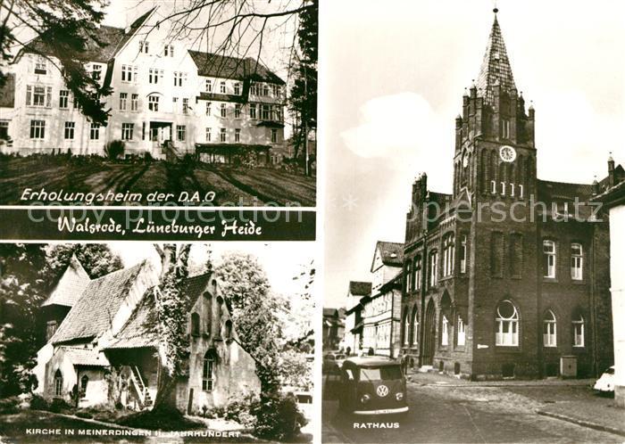AK / Ansichtskarte Walsrode Lueneburger Heide Erholungsheim der DAG Rathaus Kirche in Meinerdingen 11. Jhdt.  Kat. Walsrode