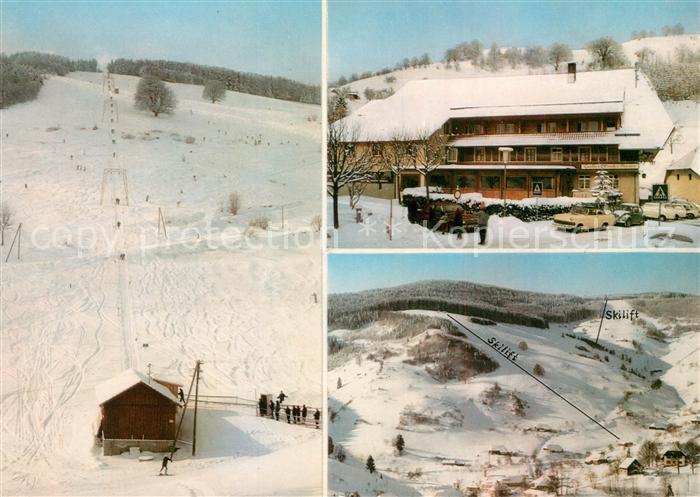 AK / Ansichtskarte Wieden Schwarzwald Gasthof zum Hirschen Skilift Kat. Wieden