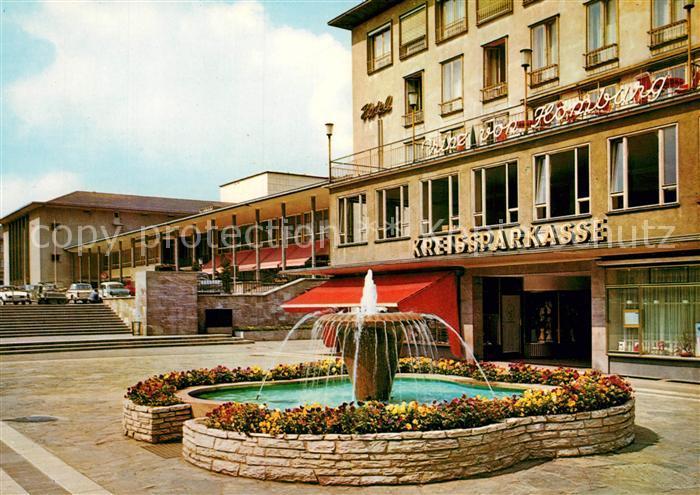 AK Homburg, Joseph Bürckelplatz mit Hotel Homburger-Hof Nr ...