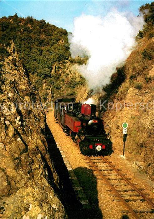 AK / Ansichtskarte Lokomotive Chemin de Fer du Vivarais Lyon  Kat. Eisenbahn
