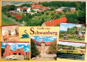 AK / Ansichtskarte Schwanberg Fliegeraufnahme Haus St. Michael Jugendhof Schullandheim Schloss  Kat. Schwanberg