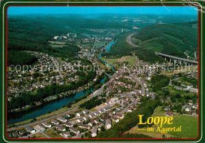AK / Ansichtskarte Loope Aggertal Fliegeraufnahme Autobahn Kat. Engelskirchen