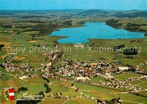 AK / Ansichtskarte Seekirchen Wallersee Sommerfrische Badeort Fliegeraufnahme Kat. Seekirchen am Wallersee