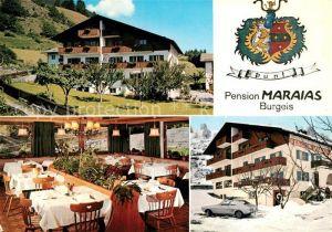 AK / Ansichtskarte Burgeis Pension Maraias Restaurant