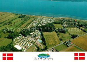 AK / Ansichtskarte Morkholt Strand Camping Fliegeraufnahme
