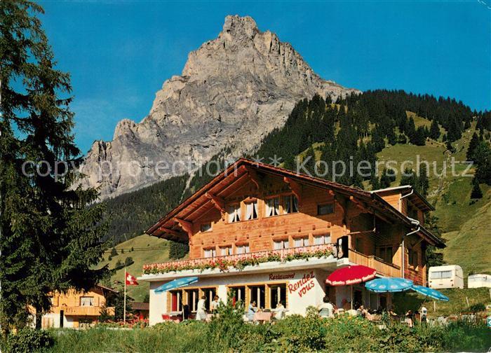 AK / Ansichtskarte Kandersteg BE Restaurant Rendez Vous mit Bire Berner Alpen Kat. Kandersteg