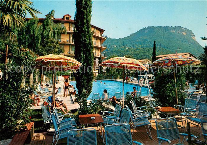 AK / Ansichtskarte Garda Lago di Garda Hotel Palme Swimming Pool
