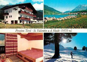 AK / Ansichtskarte St Valentin Haide Vinschgau Pension Tirol Winterlandschaft Kat. San Valentino alla Muta Vinschgau