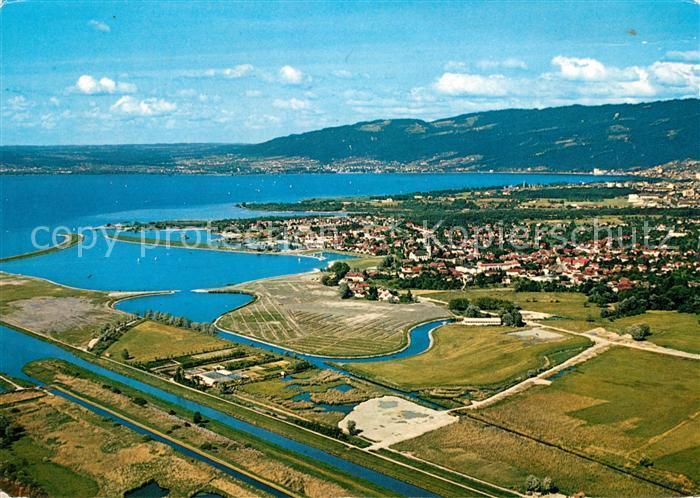 AK / Ansichtskarte Hard Vorarlberg Fliegeraufnahme mit Bodensee Kat. Hard