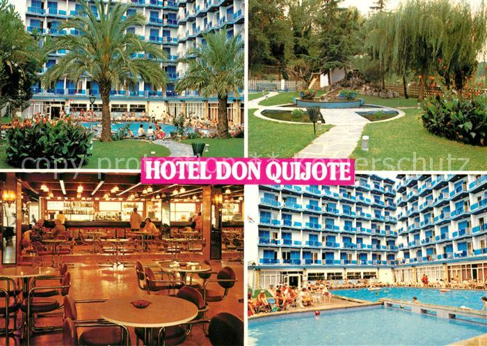 ak ansichtskarte lloret de mar hotel don quijote restaurant swimming pool kat costa brava. Black Bedroom Furniture Sets. Home Design Ideas