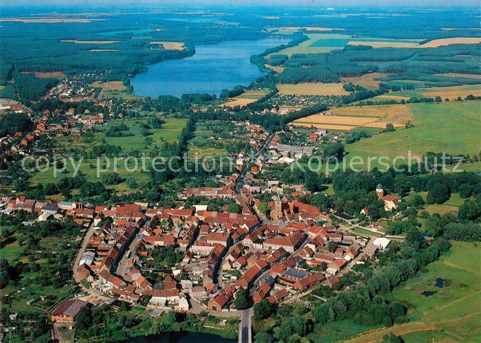 AK / Ansichtskarte Lenzen Elbe mit Rudower See Fliegeraufnahme Kat. Lenzen Elbe