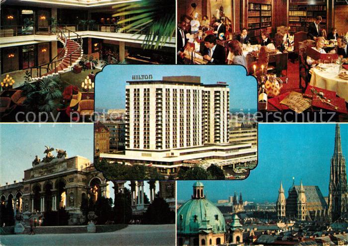 Ak Ansichtskarte Wien Stadtpark Hilton Hotel Kat Wien