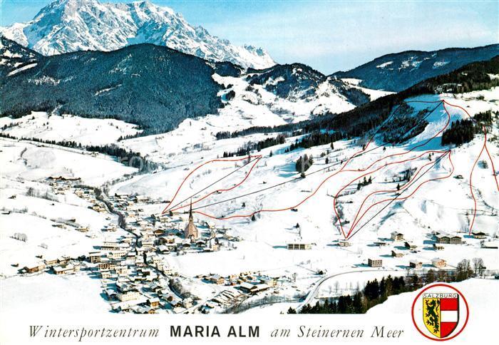 AK / Ansichtskarte Maria Alm Steinernen Meer Skiegebiet am Steinernen Meer Kat. Maria Alm am Steinernen Meer