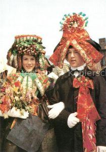 AK / Ansichtskarte Hochzeit Trachten Hessen Schwalm Eder Kreis Brautpaar Hochzeit Kat. Greetings