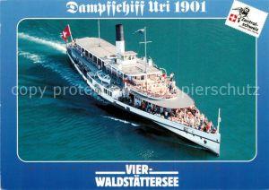 AK / Ansichtskarte Dampfer Seitenrad Uri Vierwaldstaettersee  Dampfer Seitenrad Kat. Schiffe