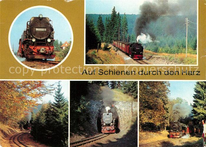 AK / Ansichtskarte Lokomotive Harzquerbahn  Lokomotive Kat. Eisenbahn