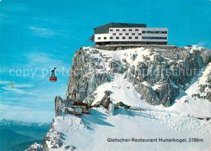 AK / Ansichtskarte Seilbahn Dachstein Suedwandbahn Gletscher Restaurant Hunerkogel Bergstation Seilbahn Kat. Bahnen