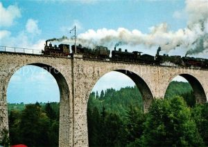 AK / Ansichtskarte Eisenbahn Weissenbach Viadukt Degersheim  Eisenbahn Kat. Eisenbahn