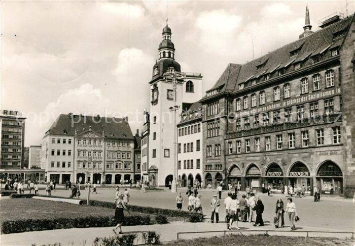 AK / Ansichtskarte Karl Marx Stadt Markt Karl Marx Stadt Kat. Chemnitz
