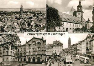AK / Ansichtskarte Goettingen Niedersachsen Blick auf die Stadt Marienkirche Kommende Auditorium Weenderstrasse Goettingen Niedersachsen Kat. Goettingen
