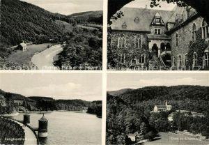 AK / Ansichtskarte Solingen Landschaftspanorama Wupper Schloss Burg Innenhof Sengbachtalsperre Dom zu Altenberg Solingen Kat. Solingen