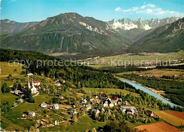AK / Ansichtskarte Maria Rain Kaernten Fliegeraufnahme mit Koschutta Maria Rain Kaernten