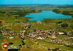 AK / Ansichtskarte Seekirchen Wallersee Fliegeraufnahme mit See Seekirchen Wallersee Kat. Seekirchen am Wallersee