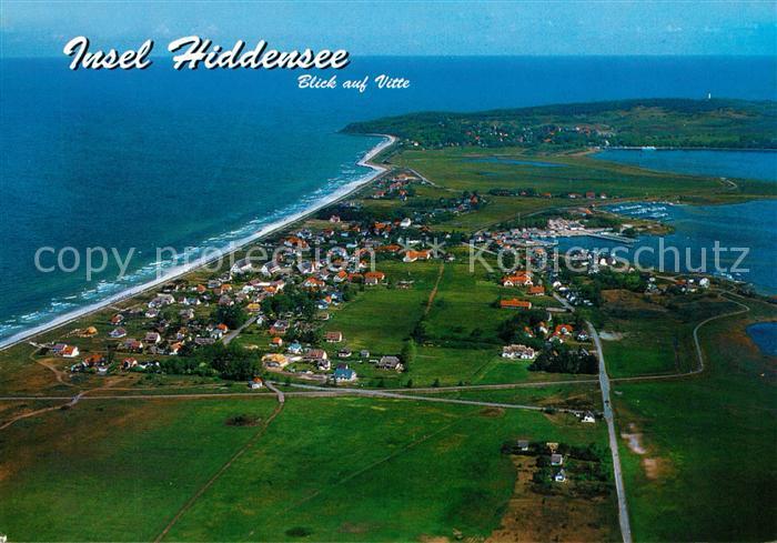 AK / Ansichtskarte Insel Hiddensee Fliegeraufnahme Vitte Insel Hiddensee Kat. Insel Hiddensee