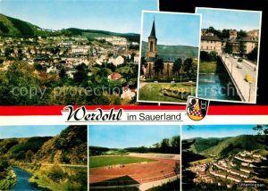 AK / Ansichtskarte Werdohl Panorama Kirche Uterlingsen Autobruecke Werdohl Kat. Werdohl
