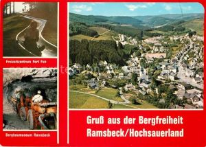 AK / Ansichtskarte Ramsbeck Fliegeraufnahme Freizeitzentrum Fort Fun Bergbaumuseum  Ramsbeck Kat. Bestwig