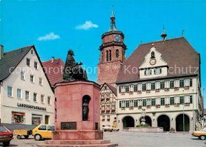 AK / Ansichtskarte Weil der Stadt Marktplatz Kepler Denkmal Weil der Stadt Kat. Weil der Stadt