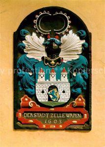 AK / Ansichtskarte Celle Niedersachsen Wappen am Rathaus Celle Niedersachsen Kat. Celle