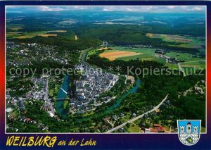 AK / Ansichtskarte Weilburg Fliegeraufnahme Schloss Lahn Weilburg Kat. Weilburg Lahn