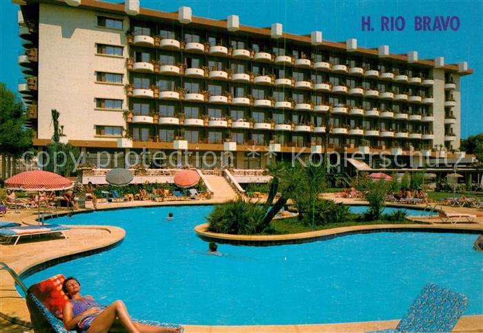 Ak Ansichtskarte Playa De Palma Mallorca Hotel Rio Bravo Swimmingpool Playa De Palma Mallorca